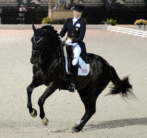 Calecto V was at his best to win the 5-star Grand Prix Freestyle for owner/rider Tina Konyot